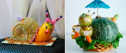 какую простую поделку сделать из овощей в детский садик