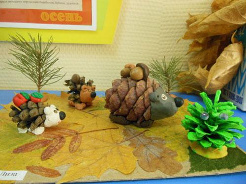 Поделки из природного материала для детей в садик