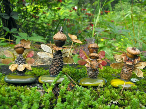 Поделки из природного материала для детей в садик 9