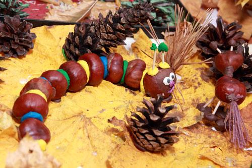 Поделки из природного материала для детей в садик 2