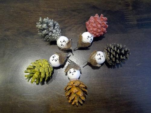 Поделки из природного материала для детей в садик 4
