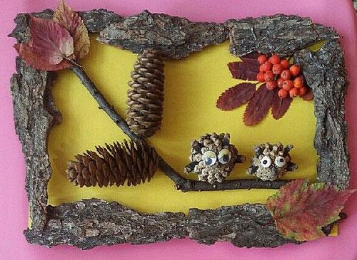 Поделки из природного материала для детей в садик 6