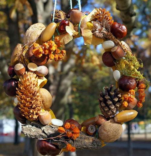 Поделки из природного материала для детей в садик 8