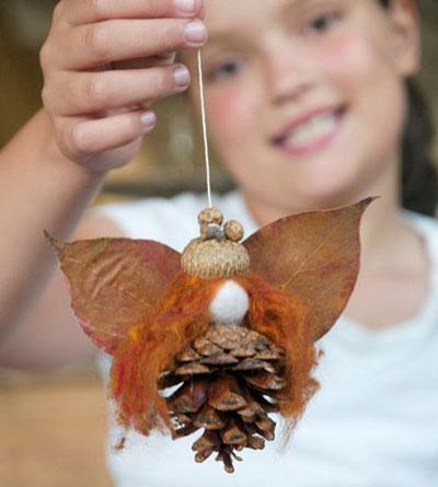 зимние поделки из природного материала для детей 3