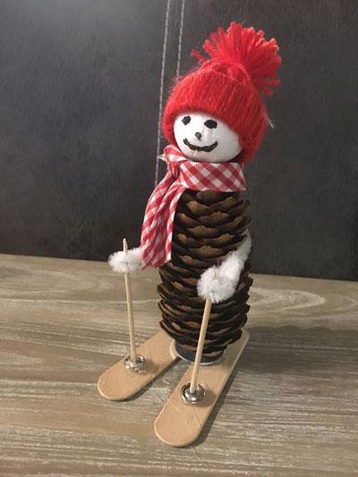 зимние поделки из природного материала для детей 5