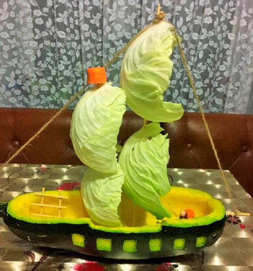 поделки осени из овощей своими руками
