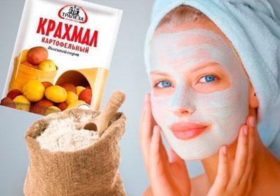 Рецепт маски из крахмала для сухой кожи лица