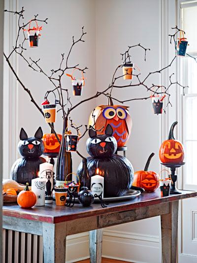 украшение комнаты на Хэллоуин своими руками 7
