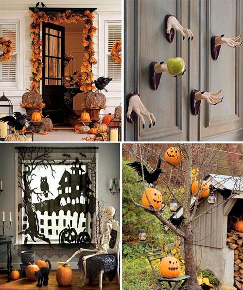 украшение дома на Хэллоуин своими руками 8