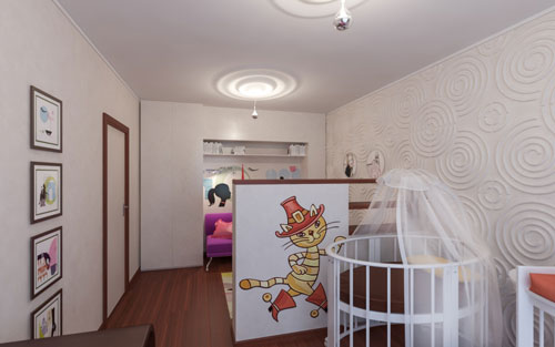 детская зона в однокомнатной квартире своими руками 4