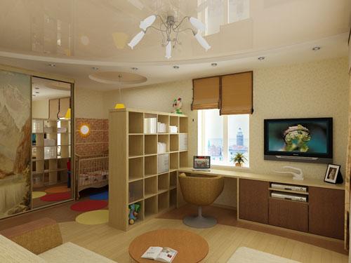 детская зона в однокомнатной квартире своими руками 5
