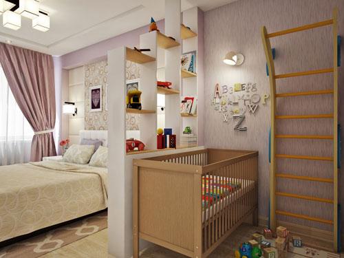 детская зона в однокомнатной квартире фото 8