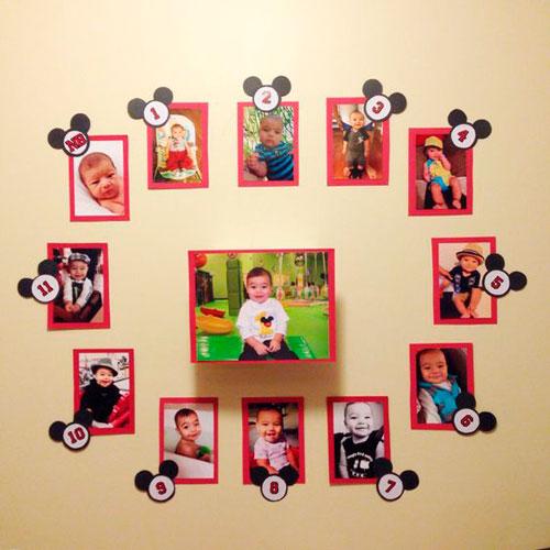 украшение фото ребенка комнаты на день рождения