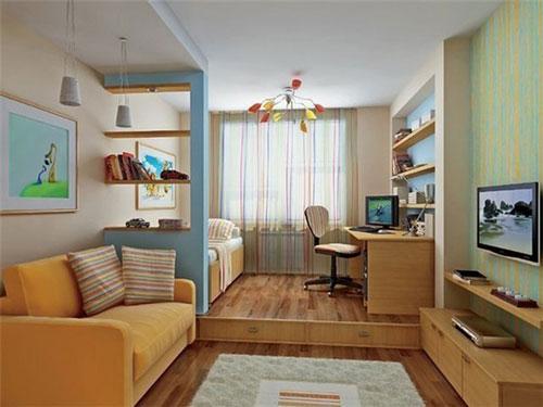 как отделить детскую зону в однокомнатной квартире 2