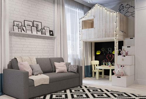 как отделить детскую зону в однокомнатной квартире 3