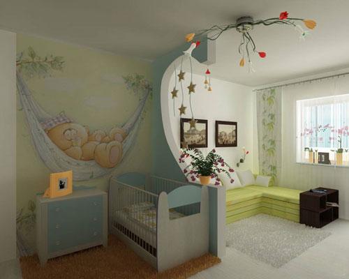 как отделить детскую зону в однокомнатной квартире 6