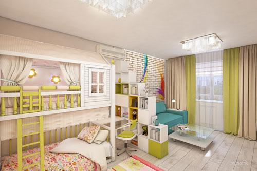как отделить детскую зону в однокомнатной квартире 7