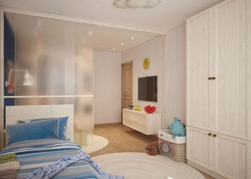 как отделить детскую зону в однокомнатной квартире 8