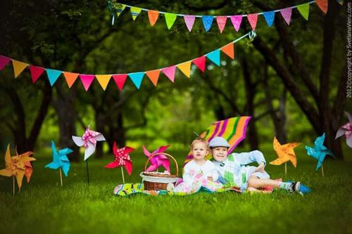фотозона на природе на день рождения ребенка