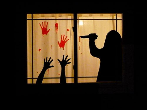 Хэллоуин украсить окна своими руками