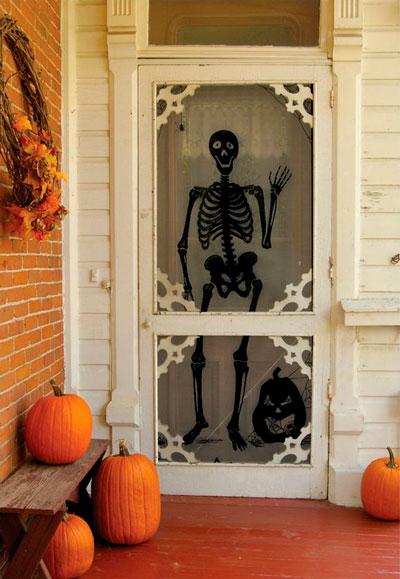 Хэллоуин украсить окна своими руками 5