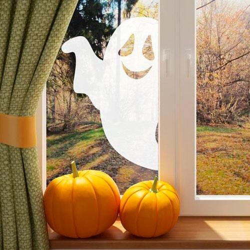 Хэллоуин украсить окна своими руками 2