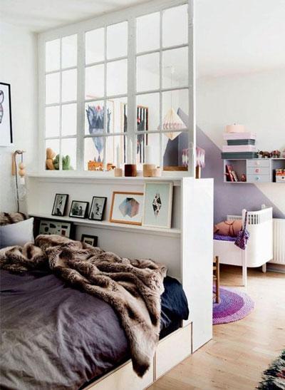 детская зона в однокомнатной квартире фото как разделить