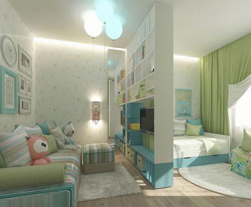 детская зона в однокомнатной квартире идеи фото 3