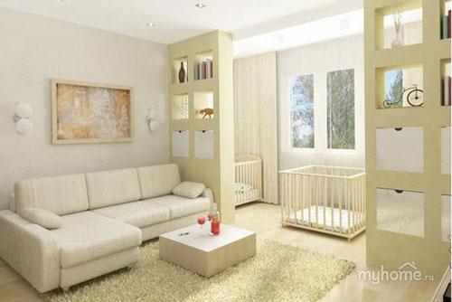 детская зона в однокомнатной квартире фото как разделить 8