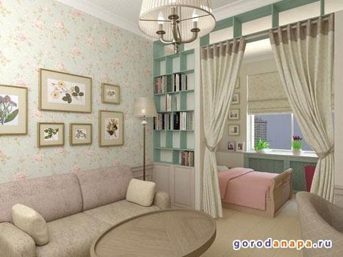 детская зона в однокомнатной квартире фото как разделить 7