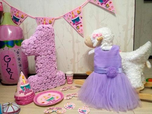 цыфры для украшения комнаты на день рождения ребенка 1 год