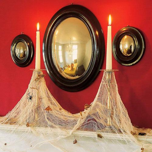 как украсить комнату на хэллоуин своими руками из бумаги 5