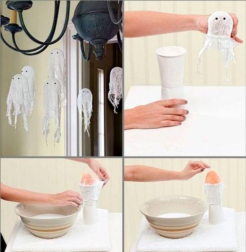 как украсить комнату на хэллоуин своими руками из марли 3