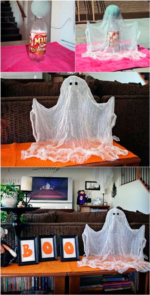 как украсить комнату на хэллоуин своими руками из марли 2