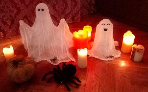 как украсить комнату на хэллоуин своими руками из марл