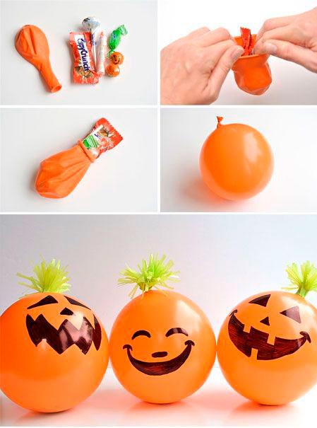 как украсить комнату на хэллоуин своими руками из шаров 2