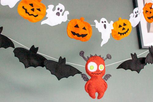украсить дом на хэллоуин своими руками с помощью гирлянд 4