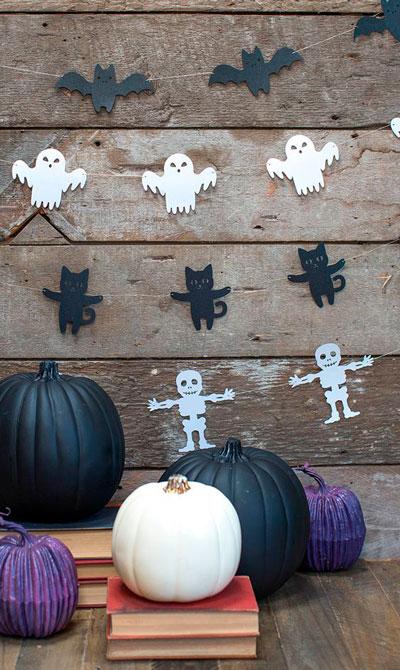 украсить дом на хэллоуин своими руками с помощью гирлянд 5