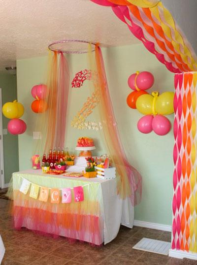 интересное оформление фото зоны в комнате на день рождения 2