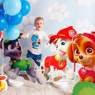 украшение комнаты на день рождения ребнка героями мультфильмов