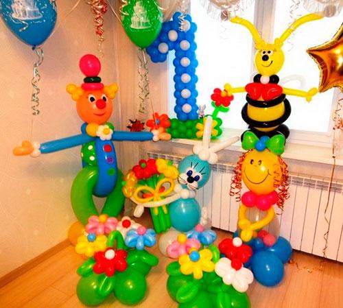 украшение комнаты на день рождения ребнка героями мультфильмов 2