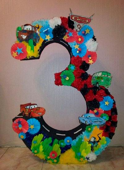 цифра 3 на детский день рождения