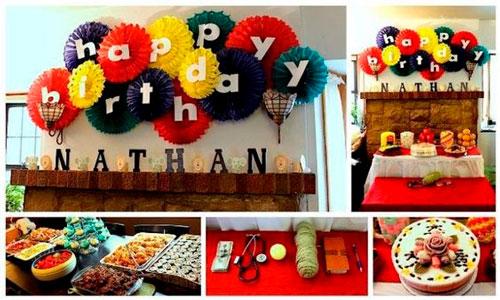 красивое украшение комнаты на день рождения