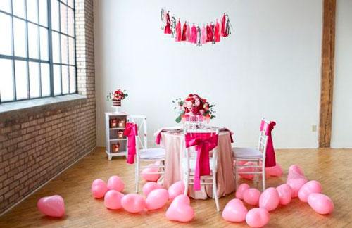 красивое украшение комнаты на день рождения 2