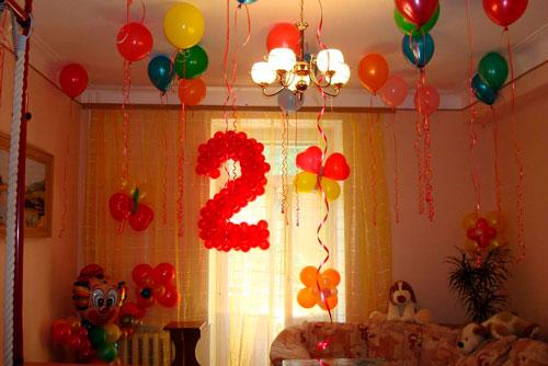 Как украсить комнату на день рождения ребенка просто 3