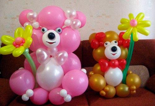 украшение воздушными шарами на день рождения ребенку 4 года