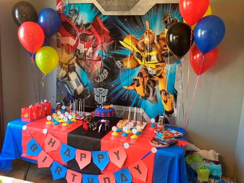 украшение комнаты на день рождения в синем цвете для мальчика 2