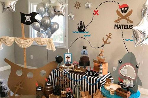 детский день рождения в морском стиле оформление