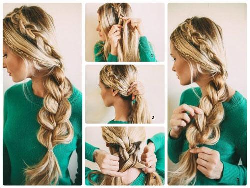 необычные косы на длинные волосы на 1 сентября