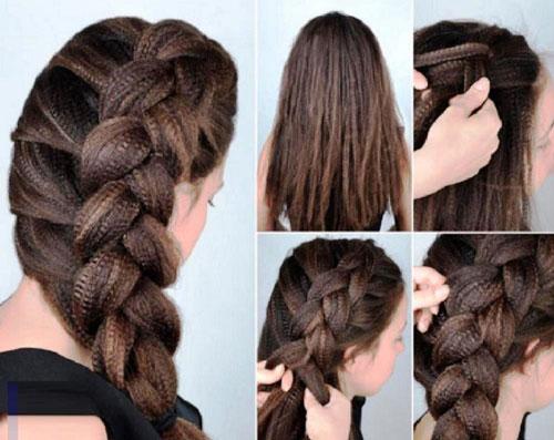 красивые прически с косами на длинные волосы на 1 сентября
